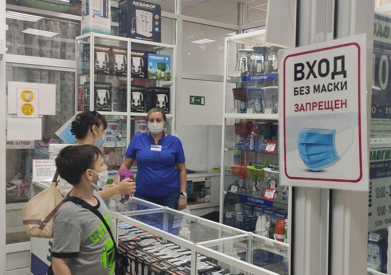 89% покупателей не соблюдают масочный режим в Ростовской области