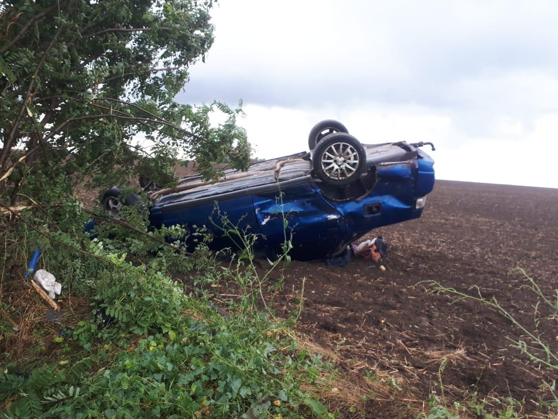 В Мартыновском районе девушка не справилась с управлением автомобиля
